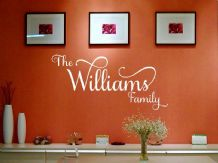 PERSONALISED Family Wall Art Quote, Wall Sticker, Decal, Modern Transfer